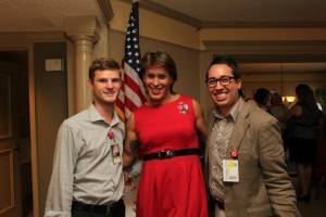 Dr. Brandon Hill (right), Joshua Trey Barnett, and former Navy SEAL and Author of Warrior Princess, Kristin Beck (photo by Christine Grost).