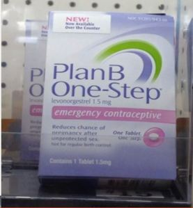 Plan B as seen over-the-counter. Image from Dr Wood's presentation 11/19/13.