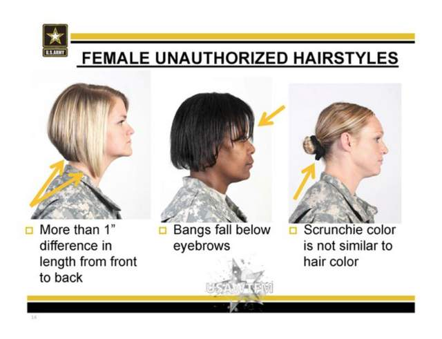 """Female Unauthorized Hairstyles"" and the US Army 