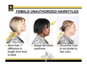 female unauthorized hairstyles 1