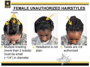female unauthorized hairstyles 2