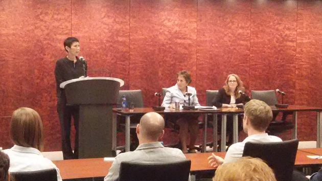 Appellate Judge Laura Liu moderates the panel